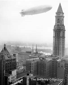 Hindenburg over boston and custom house tower may 6 1937 for Graf custom homes